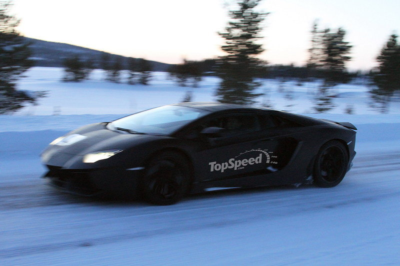 Spy Shots: Lamborghini Aventador Roadster Spotted Free of Camouflage