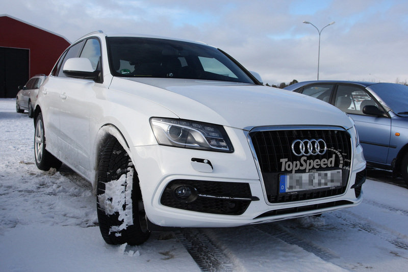 Spy Shots: Audi Q5 facelift shows off its white side