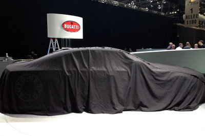 What's under the sheet? Bugatti to unveil new sedan in Geneva
