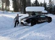 Car crash: Lamborghini Aventador lost it on the snow - image 440509