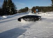 Car crash: Lamborghini Aventador lost it on the snow - image 440508