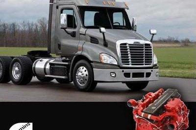 The Cummins ISX12 engine is now available for the Freightliner Cascadia Day Cab
