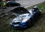 2012 M5 Hits 186 mph on the Autobahn, then Loses Control - image 450629