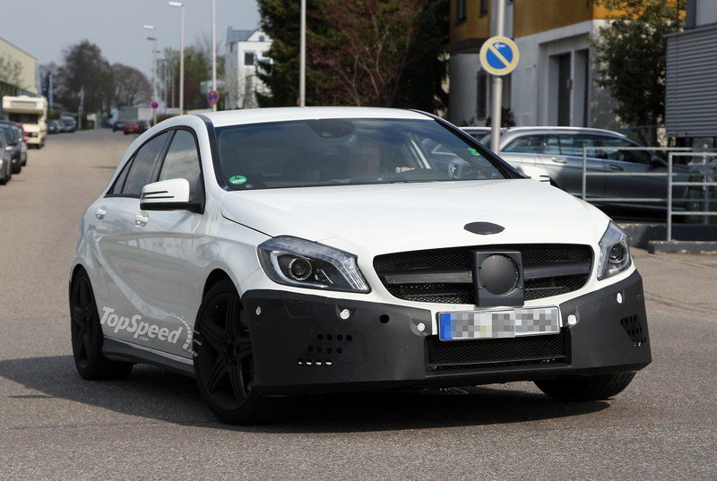 Spy Shots: Mercedes A25 AMG caught wearing less camouflage