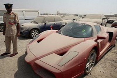 Abandoned Enzo in Dubai Heading to Auction