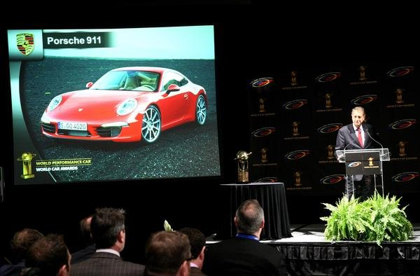 porsche 911 hauls in the world performance car award picture