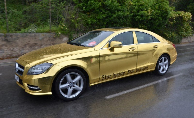 Fleet of gold Mercedes vehicles headed to 2012 Cannes Film Festival