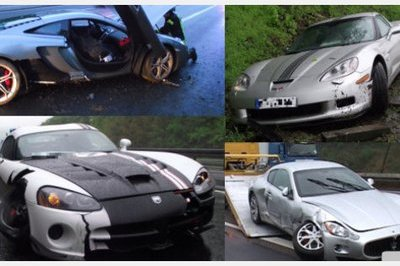 Four supercars crash on the Autobahn in as many days
