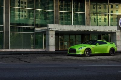 Verde Ithaca Nissan GT-R on HRE wheels