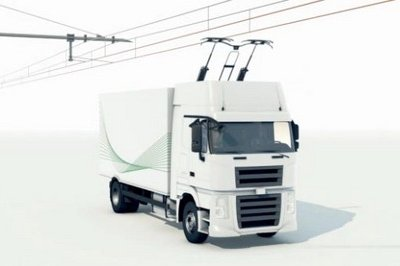 "Siemens presented its innovative ""eHighway of the future"" concept"