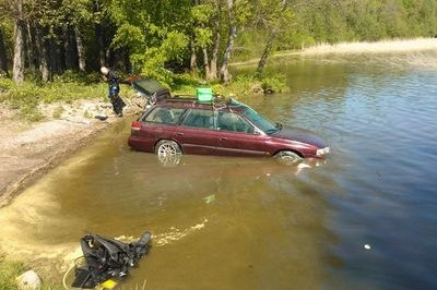 1986 Subaru Legacy starts after being submerged in lake for three months