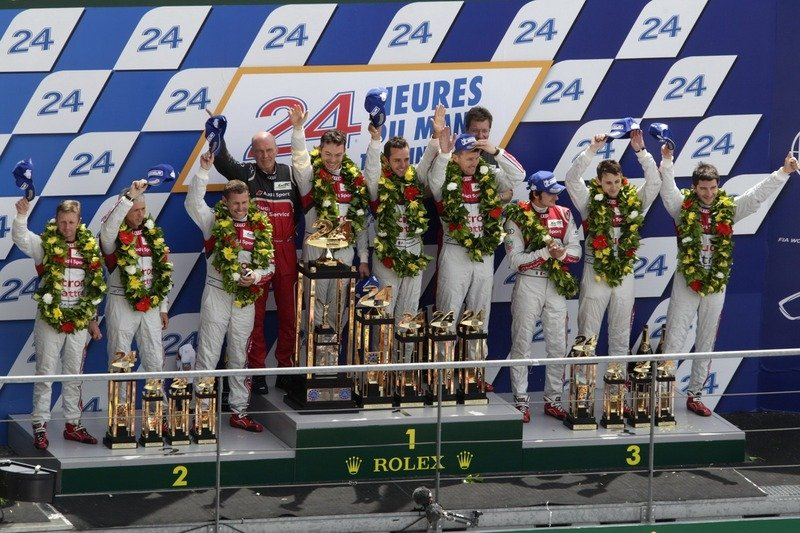 Audi continues Le Mans dominance finishing 1st, 2nd, 3rd and 5th