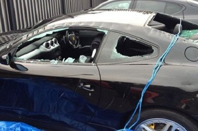 Ferrari 612 Scaglietti destroyed by Scottish man wielding axe and knife
