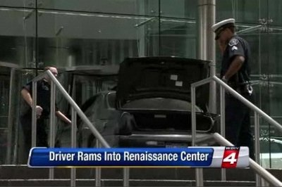 Man Smashes into General Motors' Headquarters