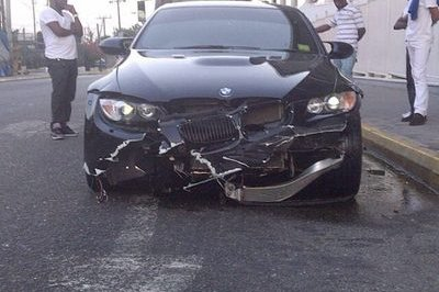 Usain Bolt crashes BMW M3 in Jamaica in Olympic lead up