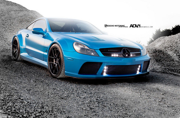 2009 mercedes benz sl65 amg black series by adv 1 wheels review top speed. Black Bedroom Furniture Sets. Home Design Ideas