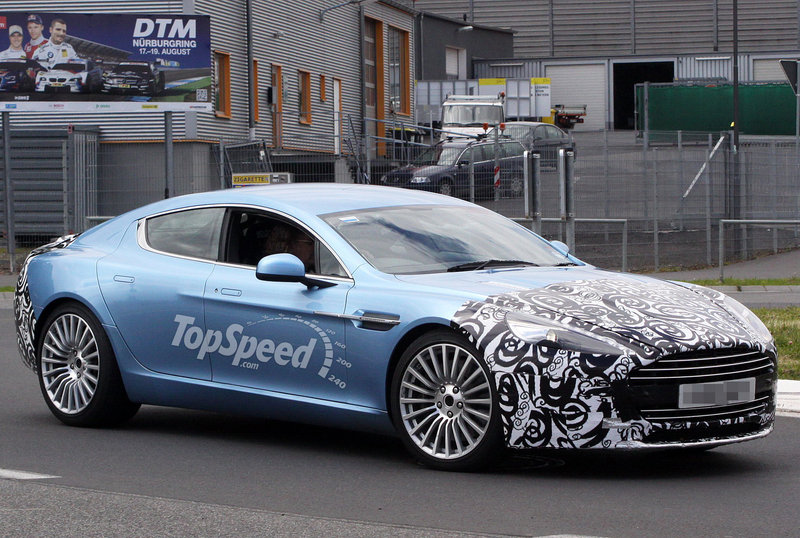 Spy shots: Aston Martin Rapide S caught testing for the first time