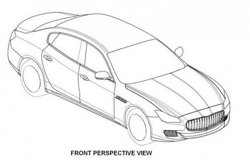 2014 Maserati Quattroporte revealed in patent drawings