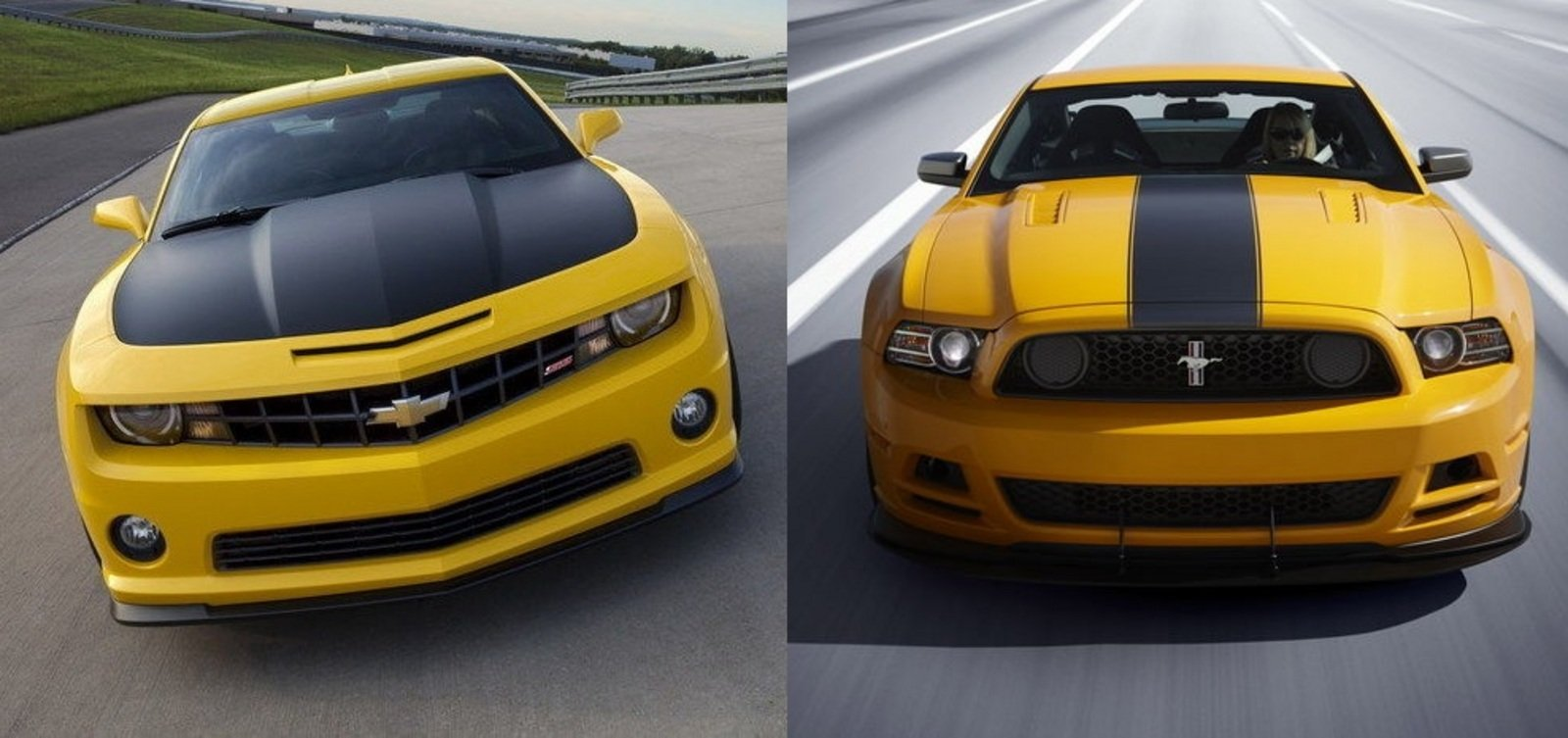 Comparison Chevrolet Camaro 1le Vs Ford Mustang Boss 302
