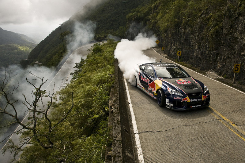 Photo of the Week: Rhys Millen and his Hyundai Genesis drifter in Brazil