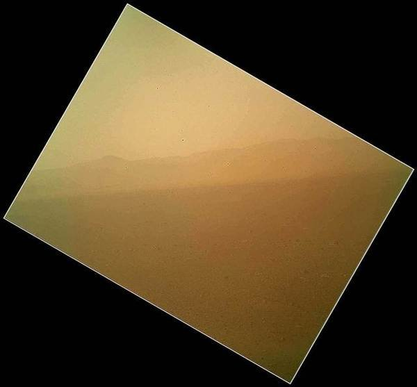 First colour photograph from the Curiosity rover.