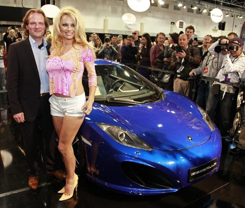 Surprise, Pamela Anderson Visits Gemballa booth at Top Marques 2012