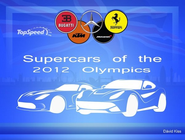 car infographics the supercars of the 2012 olympics picture