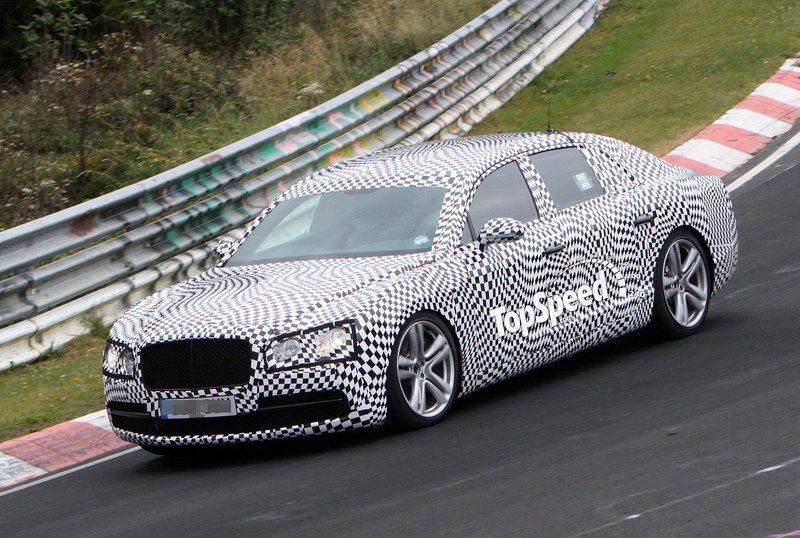 Spy Shots: Bentley Continental Flying Spur Gets Questionable Cammo