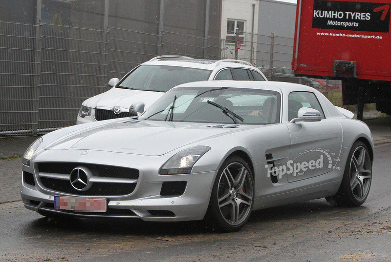 Spy Shots: Mercedes AMG SLS E-Cell Goes Testing for the First Time
