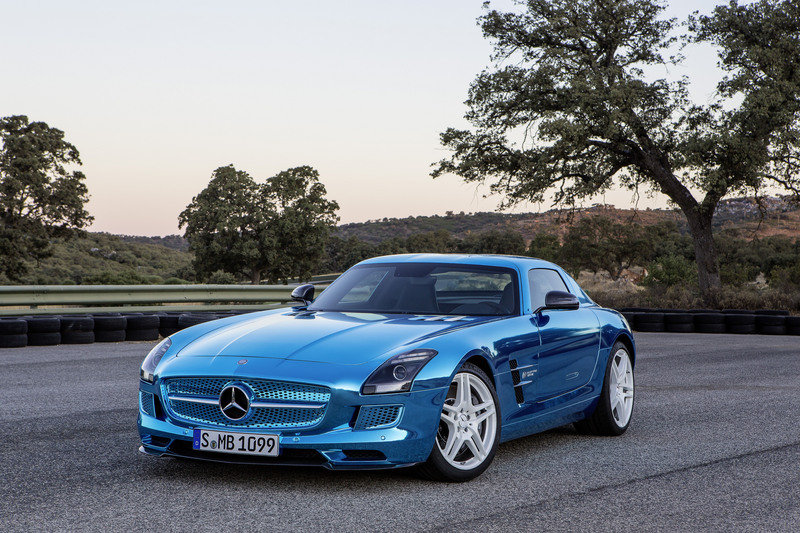 2013 Mercedes SLS AMG Coupe Electric Drive High Resolution Exterior Wallpaper quality - image 475384