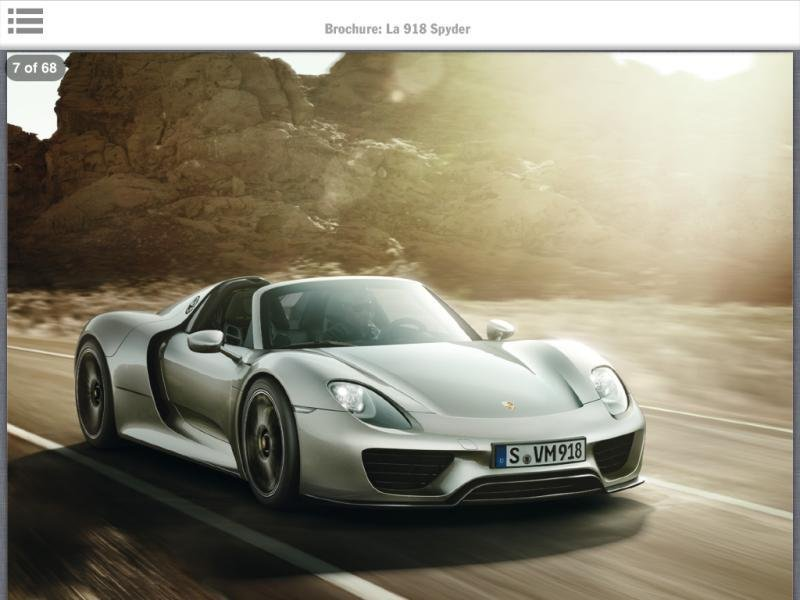 Porsche 918 Previewed by Leaked Brochure