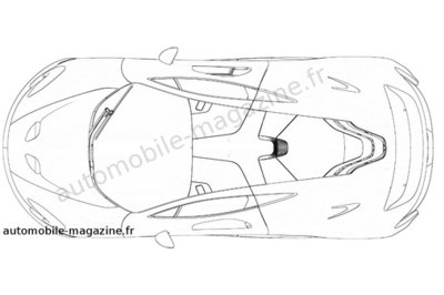 Production version McLaren P1 revealed in patent drawings