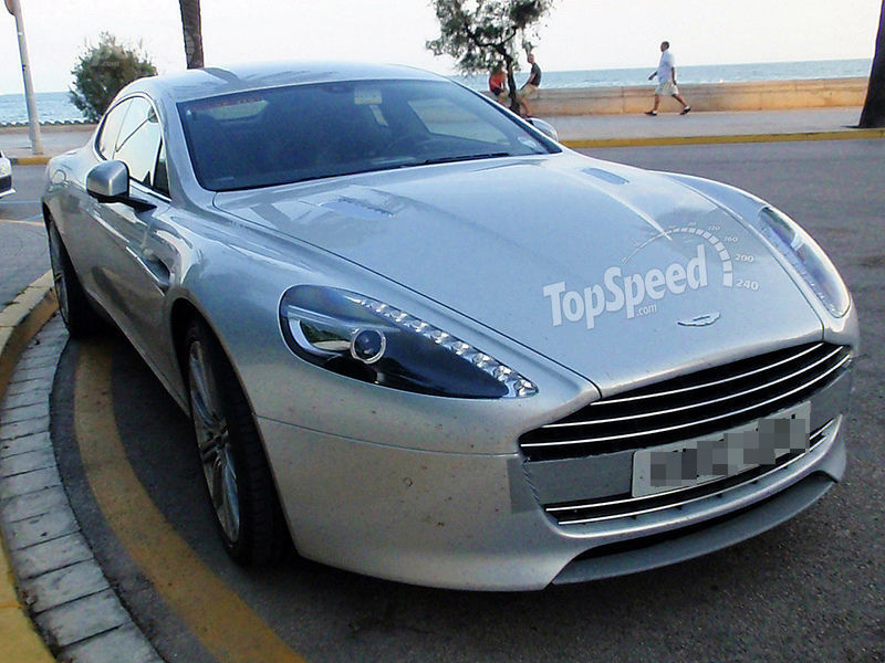 Spy Shots: Aston Martin Rapide strips down to almost nothing