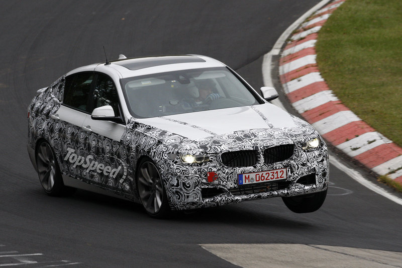 Spy Shots: 2013 BMW 3-Series GT Lifts its Wheels During Testing