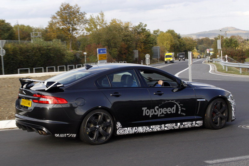 Spy Shots: Jaguar XFR-S Shows Off its Big Rear Wing