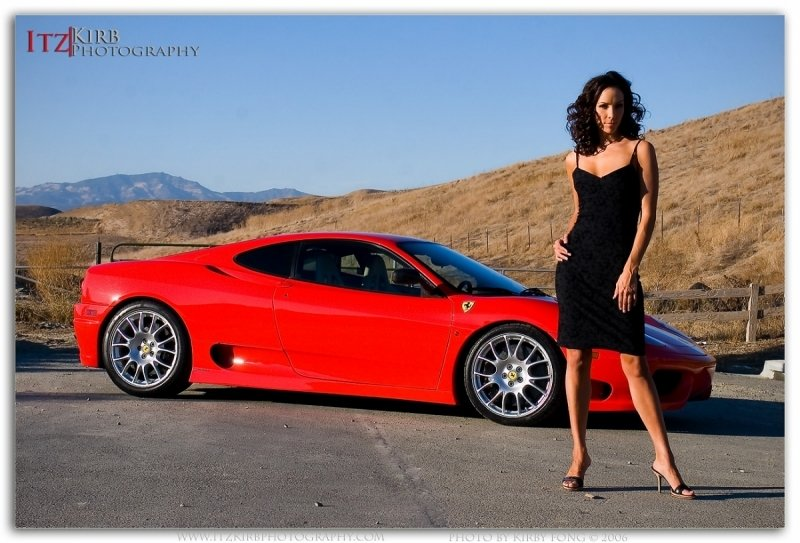 Ferrari 360 Challenge Stradale gets a Sexy Model Accessory by ItzKirb Photography