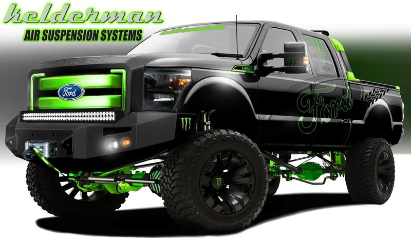 2012 Ford F-250 By Kelderman Air Suspension Systems