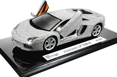 Lamborghini Aventador LP 700-4 wrapped in Swarovski crystals