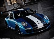 Porsche GT3 RS Satin Blue by Royal Muffler