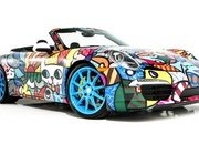 Porsche 911 Cabriolet Art Car by Romero Britto