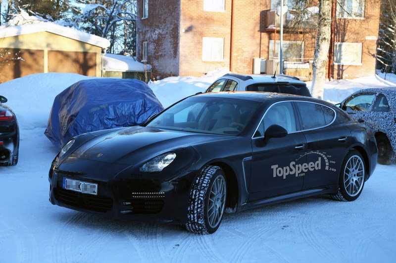 Spy Shots: Revised Porsche Panamera Caught Testing in the Snow