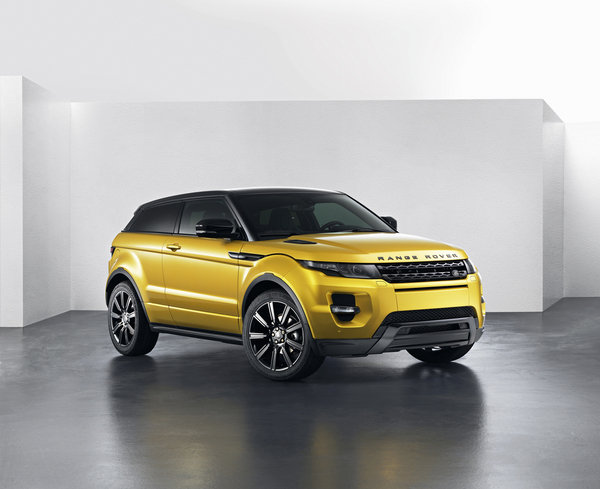 range rover evoque sicilian yellow edition picture