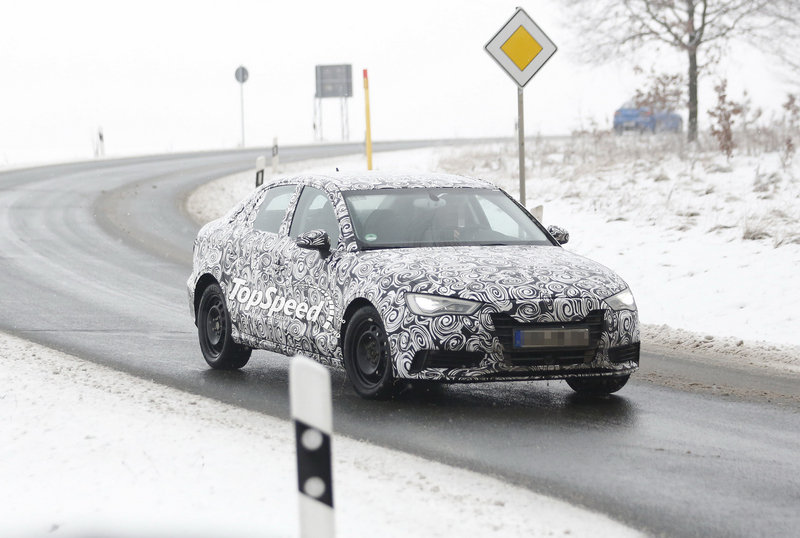 Spy shots: Audi A3 Sedan Caught Testing in the Cold