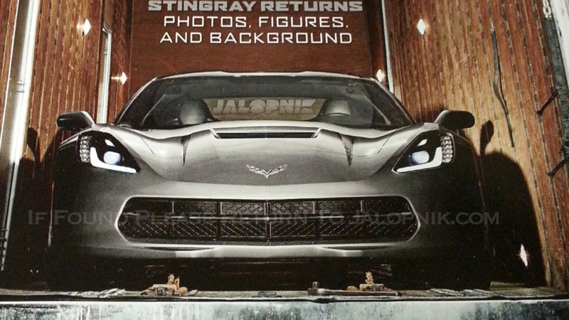 First images of the C7 Corvette