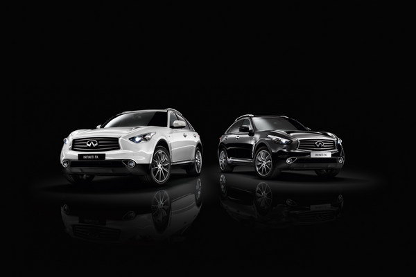 infiniti fx black and white editions picture