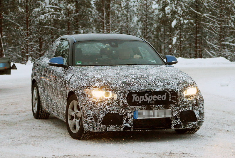 Spy Shots: BMW 2-Series Coupe Goes Testing in the Swiss Cold