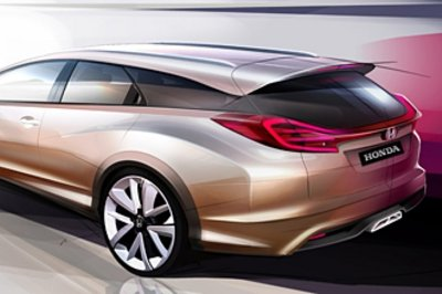 2014 Honda Civic Tourer Concept Exterior Drawings - image 493229