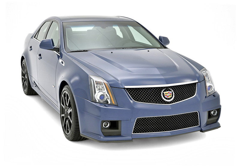 2013 Cadillac CTS-V Silver Frost and Stealth Blue Limited Edition