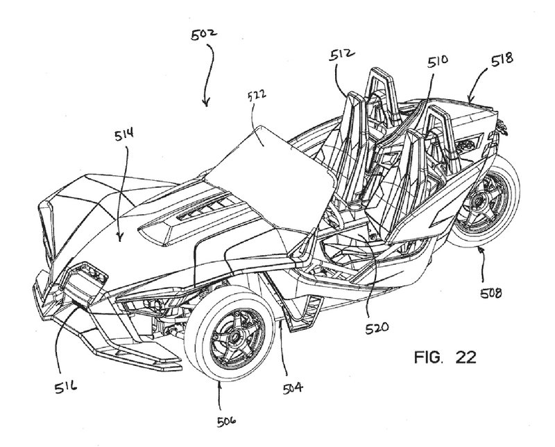 Patent Sketches Reveal the Polaris Slingshot Race Car