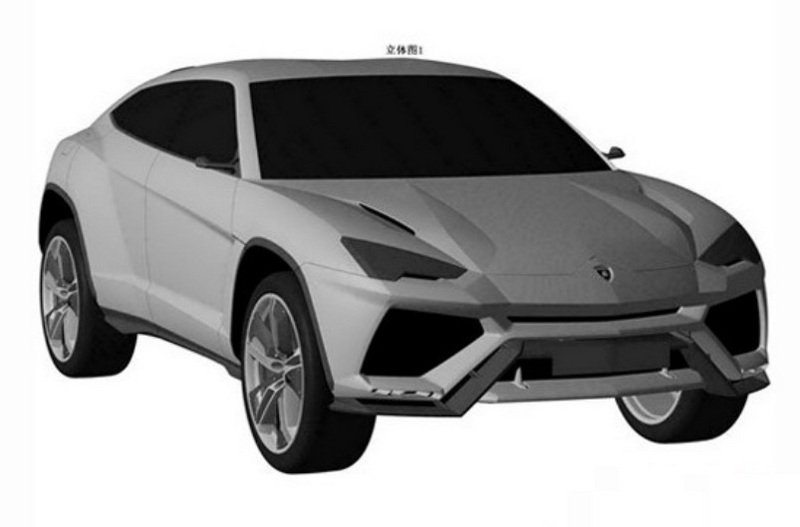 Production Version Lambo Urus Revealed in Patent Drawings